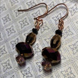 Crystal earrings handmade by Susan Ray